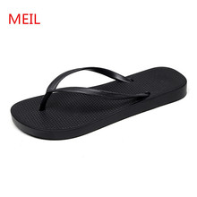 Men Beach Slippers 2018 Fashion Black Sandals Men Summer Beach Shoes Lover Flip Flops Slides Terlik Slippers Pantuflas Tenis
