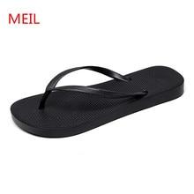 Men Beach Slippers 2018 Fashion Black Sandals Summer Shoes Lover Flip Flops Slides Terlik Pantuflas Tenis