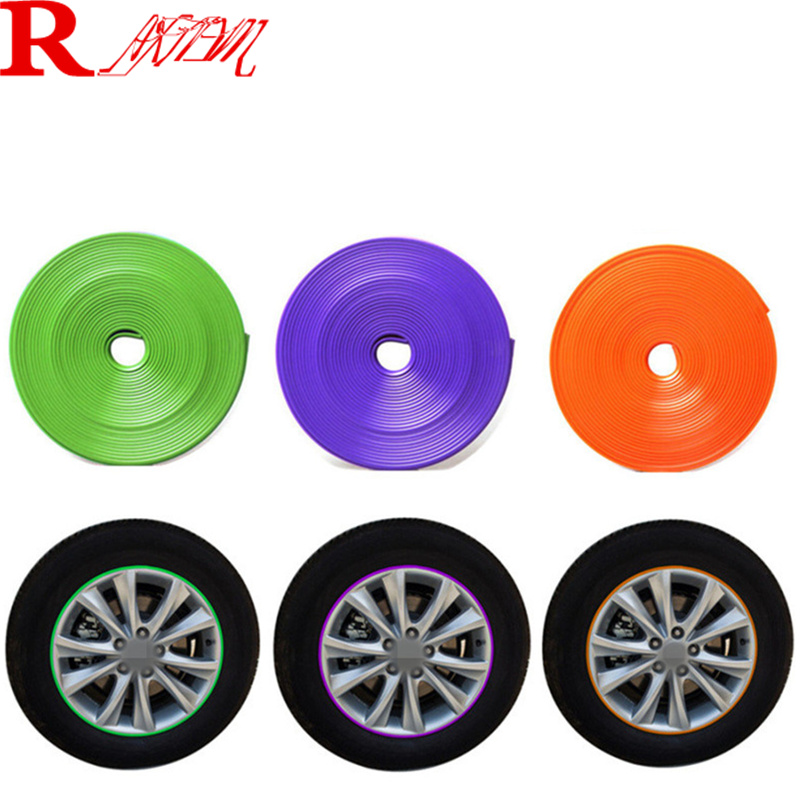 8M Car Wheel Hub Tire Protection Sticker For Acura ILX RDX MDX RL TL TSX ZDX MDX