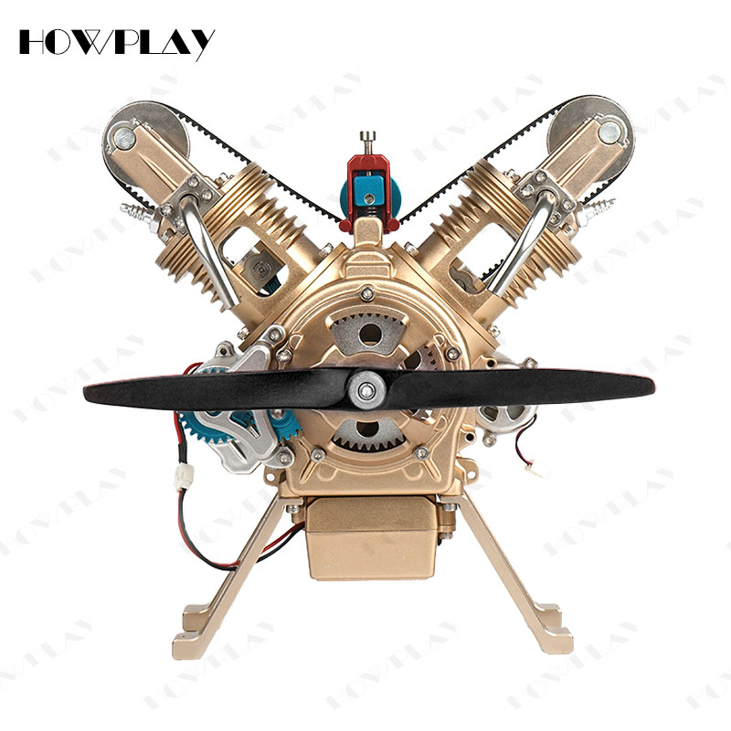 HowPlay Gasoline Engine model V2 metal mechanical assembly model souptoys assembly toy teaching Educational Toy Collection gift-in Model Building Kits from Toys & Hobbies    1