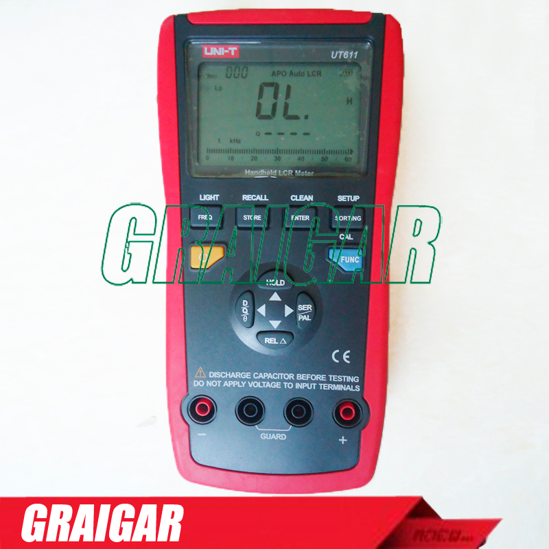 UNI-T UT611 LCR Meters Inductance Capacitance Resistance Frequency Tester with Series/Parallel Mode multimeter ut612 digital lcr meter with inductance capacitance resistance frequency tester