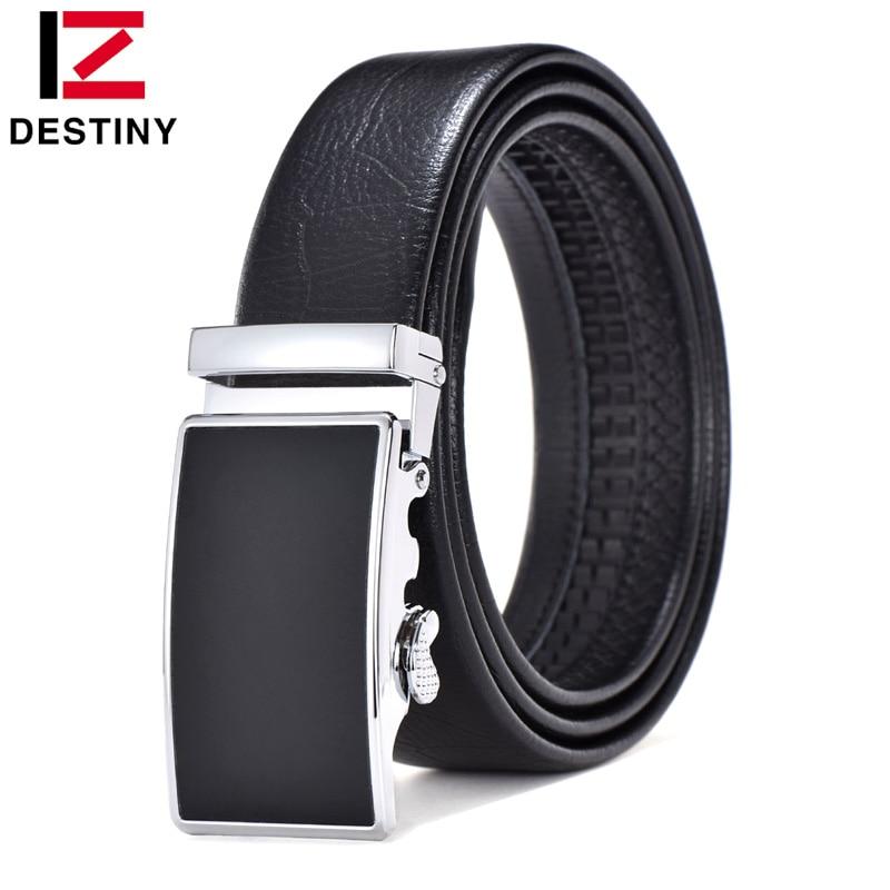 DESTINY Designer Belts Men High Quality Male Genuine Leather Strap Waist Men Belt Luxury Famous Brand Wedding Jeans Silver Gold