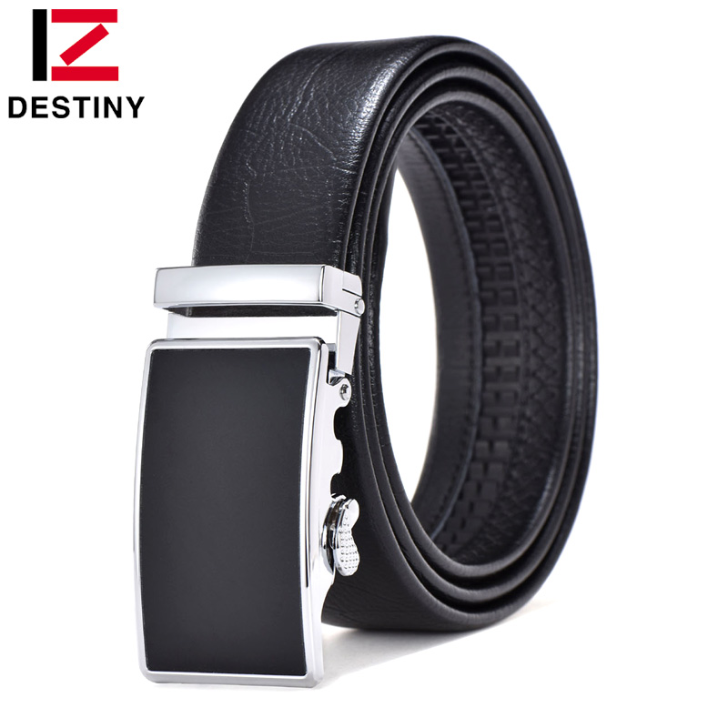 DESTINY Designer Belts Men High Quality Male Genuine Leather Strap Waist Men Belt Luxury Famous Brand Wedding <font><b>Jeans</b></font> <font><b>Silver</b></font> Gold