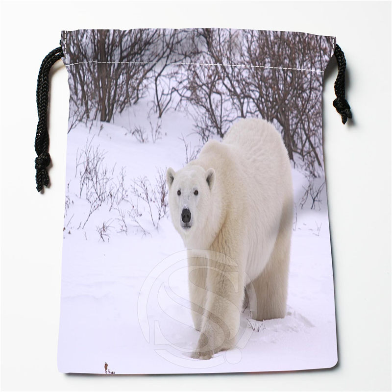 New Bear printed storage bag 27x35cm Satin drawstring bags Compression Type Bags Customize your image gifts