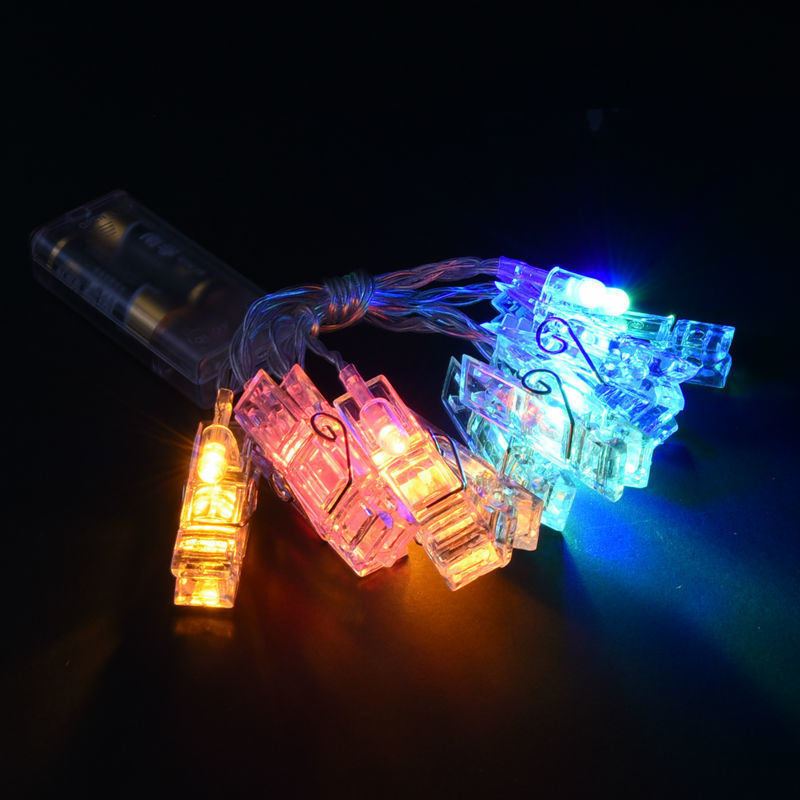 Hot Sale! Colorful 20 LED Clip Sting Light For Card Photo For Home Christmas Wedding Decoration Lighting Party Fairy Lights