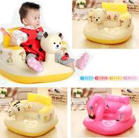 Stools Panda Baby Music Inflatable Sofa Study seat Child Dining Chair Convenient Multifunction children Sofas Bath Stool