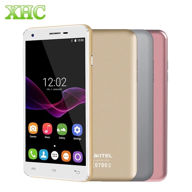 Oukitel u7 max 1 gb + 8 gb 5.5 pulgadas android 7.0 os mt6580a quad core 1.3 ghz wcdma 3g smartphone 2500 mah 13mp cámara del teléfono móvil