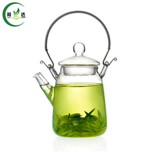 320ml Heat-Resisting Glass Teapot With Stainless Steel Loop-handled & Tea Strainer Black Tea Da Hong Pao Teapot(China)
