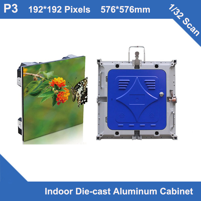 TEEHO 6pcs/lot p3 led display Diecasting Cabinet 576mm*576mm slim1/32 scan rental led screen display sign event wedding meeting