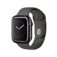 Luxury Real Carbon Fiber Case for Apple Watch Series 4 44mm iWatch Slim Snug Frame Ultra Thin Cover