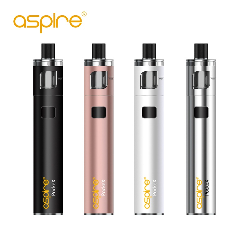 Original Elektronisk Cigarett Aspire PockeX Pocket AIO Kit Med 0.6ohm Spolar Allt-i-ett 1500mah Kapacitet Vape Kit VS Ego Aio Kit