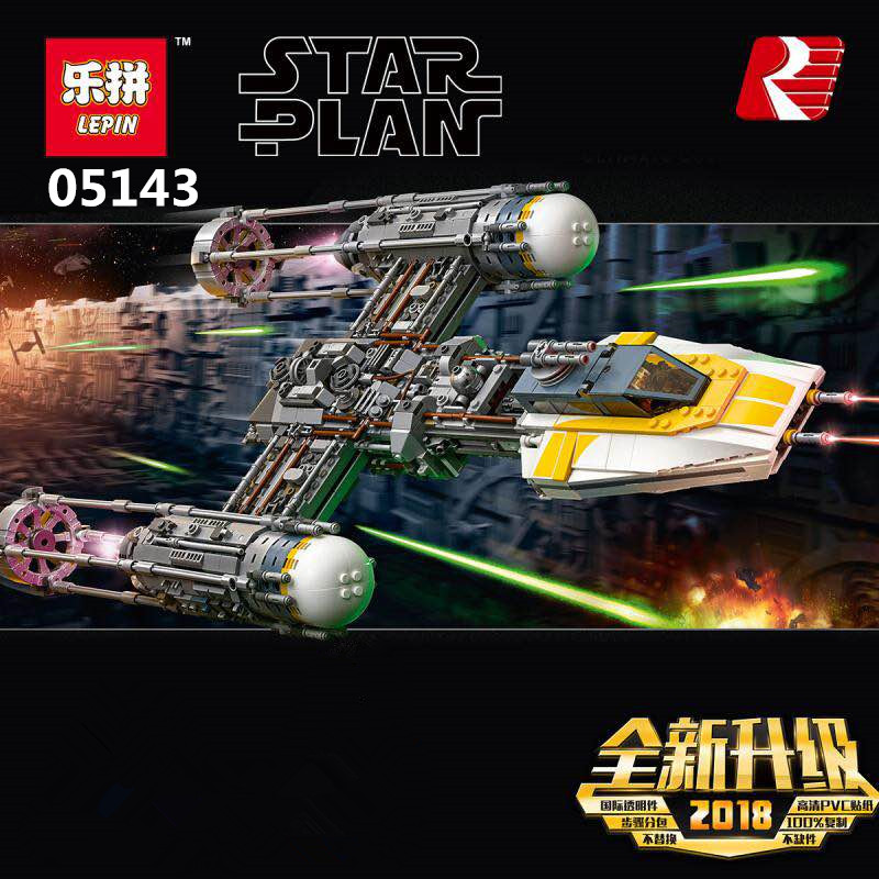 Presell LEPIN 05143 2203Pcs Star Y-wing Wars Starfighter Set Building Blocks Bricks Toys Educational Kid Gift Compatible 75181 lepin 05040 y attack starfighter wing building block assembled brick star series war toys compatible with 10134 educational gift