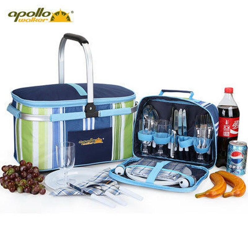 Picnic Basket Dish Set : Apollo dinnerware set picnic basket insulation bbq bag