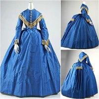Historical Civil War Southern Belle Gown evening Dress/Victorian Lolita dresses/scarlett dress US6 26 SC 904