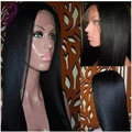 Synthetic lace front wig with baby hair cheap black wig yaki straight lace front wig heat resistant fiber hair for black women