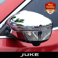 ABS Side Door Mirrors Rearview Cover 2pcs/set For NEW JUKE 2015 2018