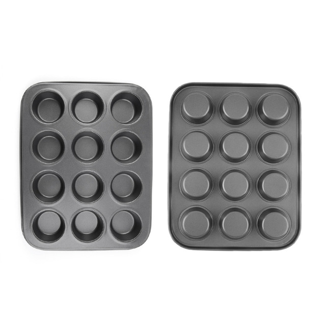 US $6 88 14% OFF|Round shape Aluminum Muffin Cupcake Mould Case Bakeware  Pan Tray Mould Maker Mold Tray Baking Cup Liner Baking Molds Hot New-in  Cake