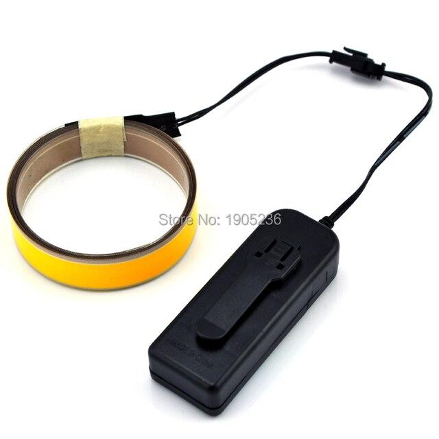 1m*1.5cm EL tape rope wheel light string/glow flashing wire rope ...
