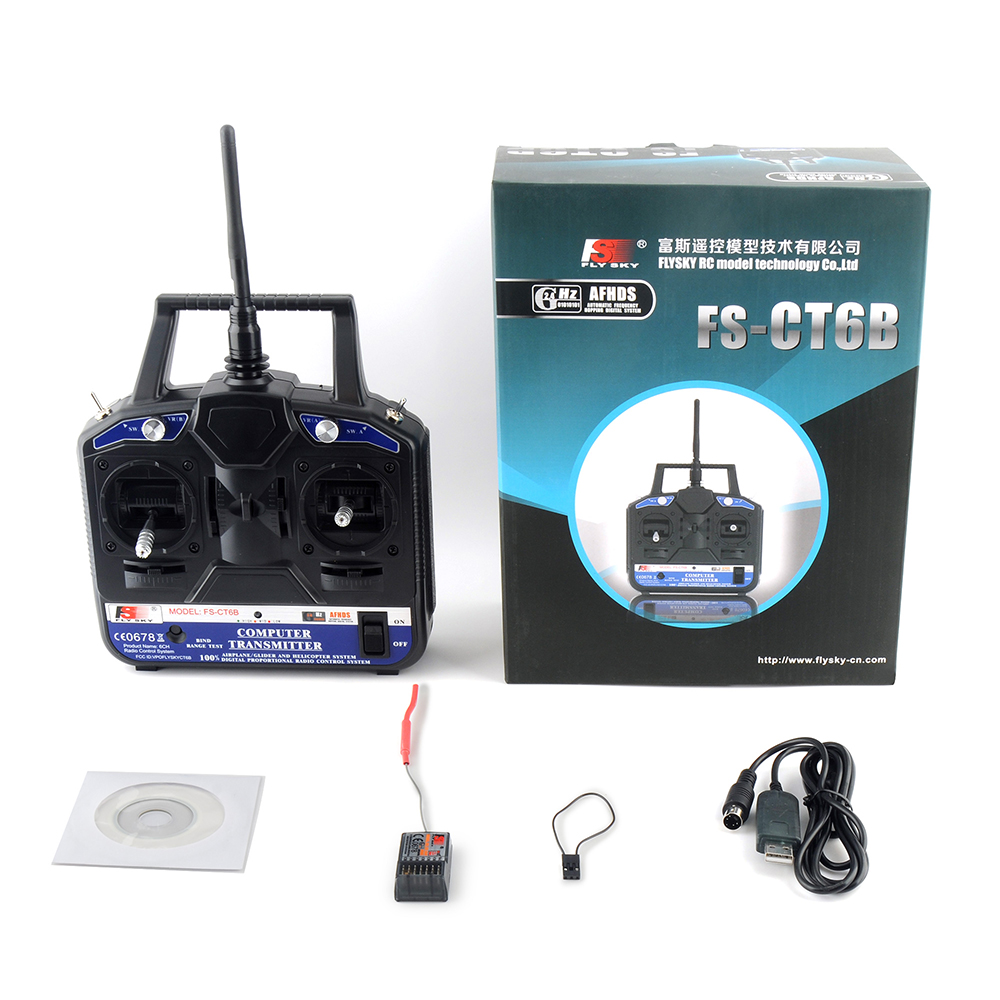 Fly Sky FS CT6B 6CH 2 4G RC Transmitter FS R6B receiver Remote controller 6 channel