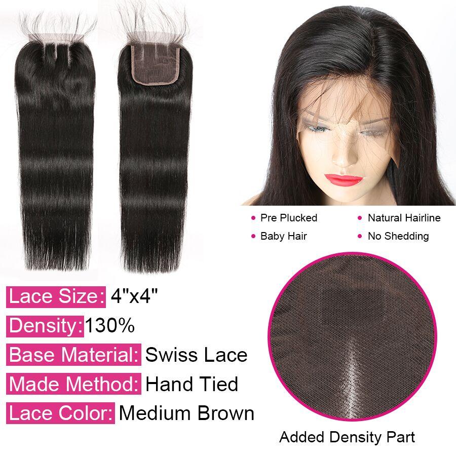 HTB1rQfbSPDpK1RjSZFrq6y78VXaK Alipop Hair Straight Hair Bundles With Closure Peruvian Hair 3 Bundles With Closure Remy 100% Human Hair Bundles With Closure