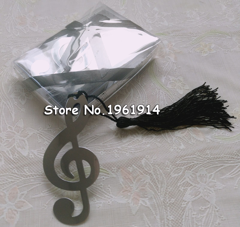 100 pcs Music Note Alloy Bookmark Novelty Ducument Book Marker Label Stationery Exquisite Gift Book mark
