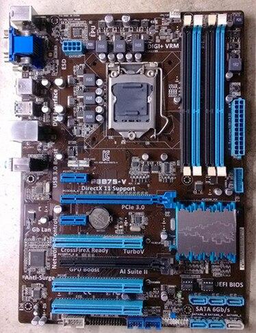 P8B75-V DDR3 LGA1155 boards for 22/32nm CPU SATA III USB3.0 32GB B75 Desktop motherboard