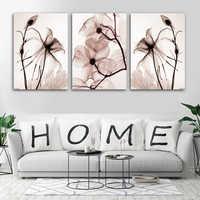 3 шт., хит продаж, прозрачные цветы, холст, живопись, Современное украшение дома, для гостиной или спальни, принт, картина, Настенная картина