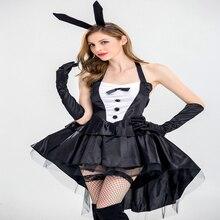 Free shipping adult sexy Rabbit girl role playing costume ball black rabbit dress Bunny Girl Tuxedo Dress Uniform