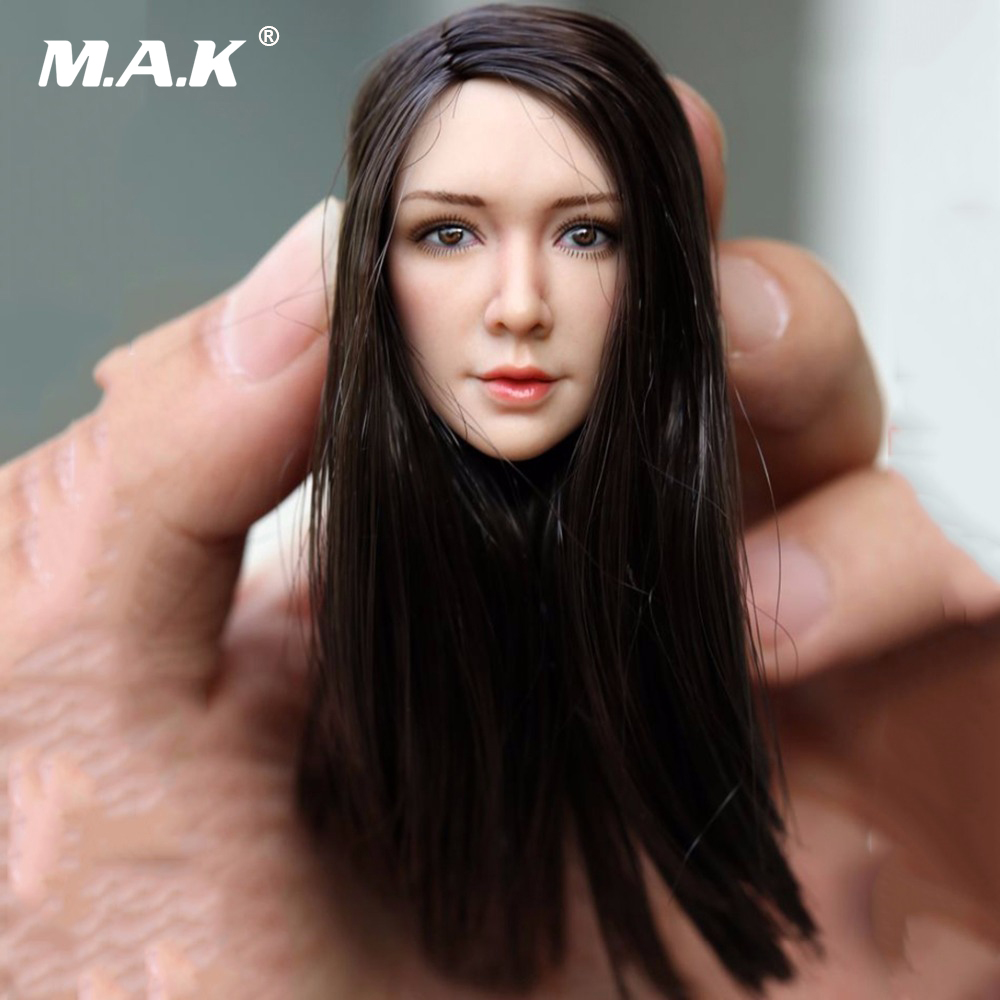 1/6 Scale Female Head Sculpt Girl Woman Headplay Black Curly Hair for 12Action Figure Accessories 1 6 scale figure accessories doll female head for 12 action figure doll head shape fit phicne