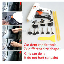 цена на PDR Tools Paintless Dent Puller Remover Pulling Bridge Dent Removal Hand Tool For Car Dent Repair Tools set PDR Kits + glue gun