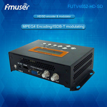 FUTV4652H ISDB-T MPEG-4 AVC/H.264 HD/SD Encoder Modulator  for Home Use