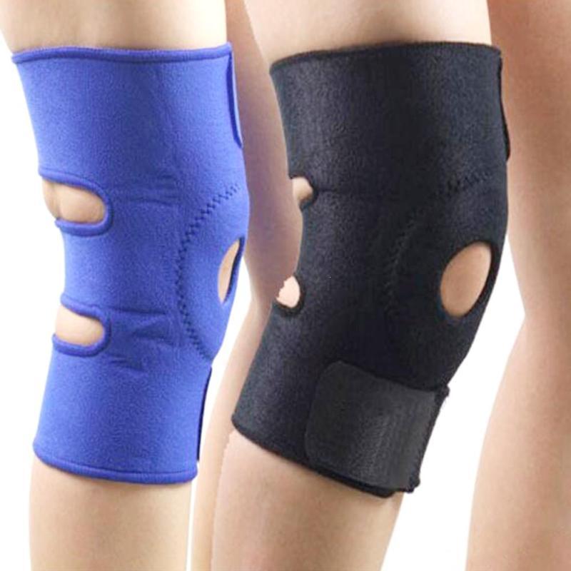 цена на 1PC Kneepad Belt Adjustable Sports Leg Knee Support Brace Wrap Kneepads Patella Protector Kneecap Belts Sports Black Neoprene C4