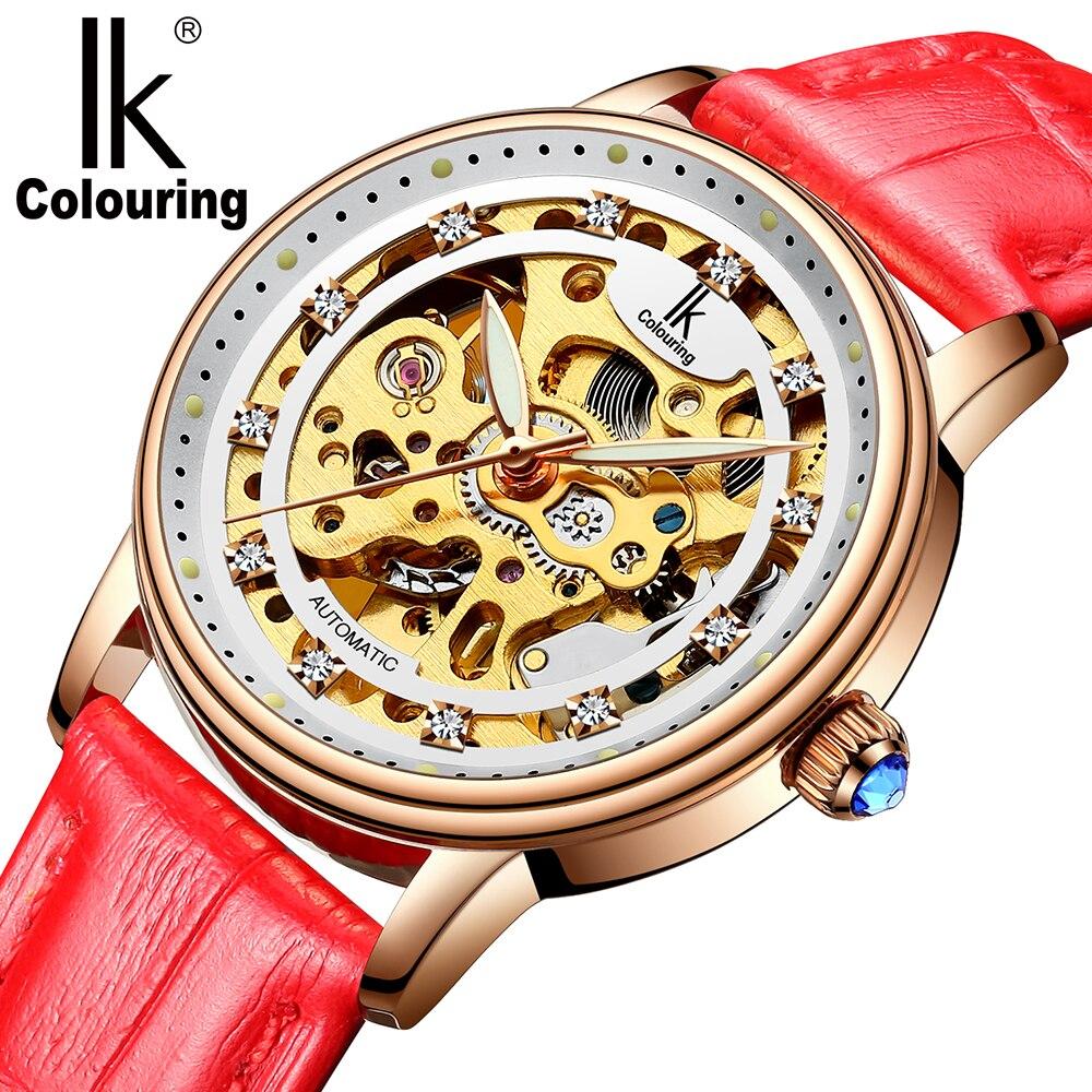 Femmes montre de luxe marque décontracté dames montre robe creux automatique mécanique montre horloge femme feminino reloj mujer - 5