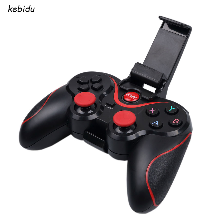 Top quality Wireless Bluetooth 3.0 Game Controller Joystick Gamepad Gaming Remote Control for Android for iPhone Holder Included