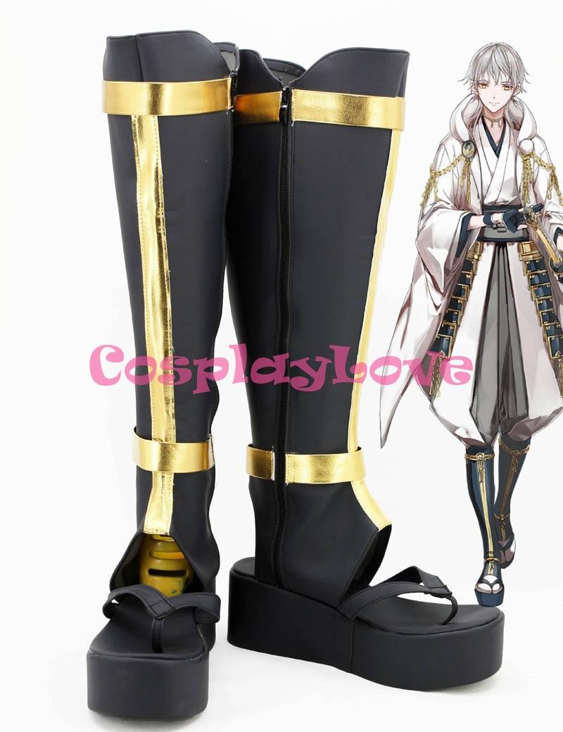 Custom Made Japanese Game Touken Ranbu Online Tsurumaru Kuninaga Cosplay Long Boots Cosplay Boots Shoes For Halloween Christmas