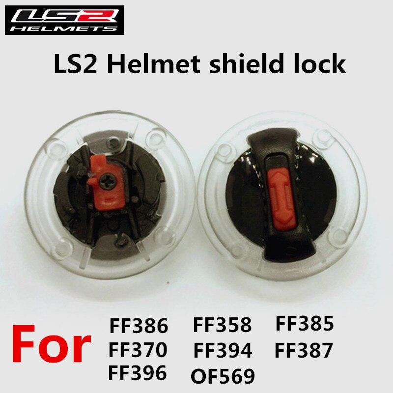 Une Paire LS2 moto casque face shield lock pour flip up LS2 FF370 FF386 Casque pour LS2 ff396 full face ff358 ff385 casques