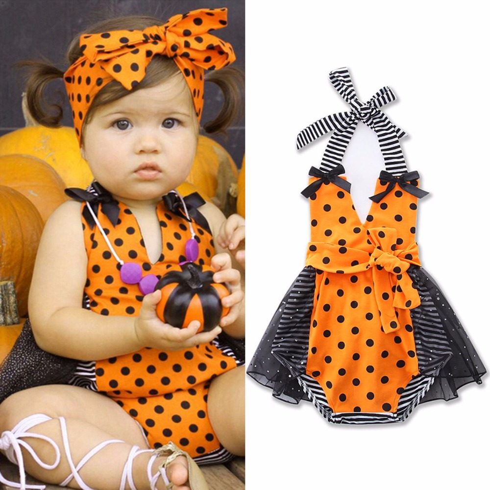 2017 Cute Cartoon Baby Girl Rompers Dress Baby Costumes Jumpsuit Cotton Infant Girls Polka Dot Strappy Tutu Mini Dresses newborn baby rompers baby clothing 100% cotton infant jumpsuit ropa bebe long sleeve girl boys rompers costumes baby romper