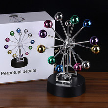 Magnetic Ferris Wheel Balance Pendulum Ornaments Creative Dolphin Physical Energy Swing Ball Home Desk Decoration Crafts