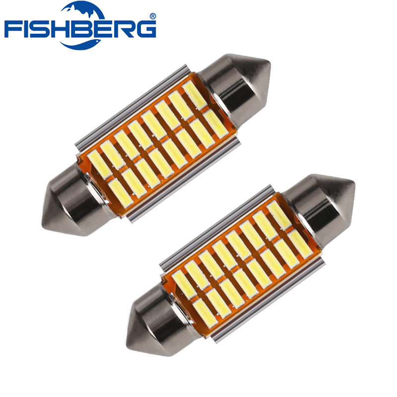 2pcs 12V 31mm 36mm 39mm 41mm C5W Canbus LED Auto Festoon Light Error Free Interior Doom Lamp Car Styling For BMW Audi Benz high quality 31mm 36mm 39mm 42mm c5w c10w super bright 3030smd car led festoon light canbus error free interior doom lamp bulb