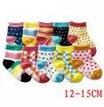 5 пар/лот ребенок хлопчатобумажные носки резиновые скольжению пола носки мультфильма маленького малыша носки 1--3 новорожденных девочек / мальчиков носки