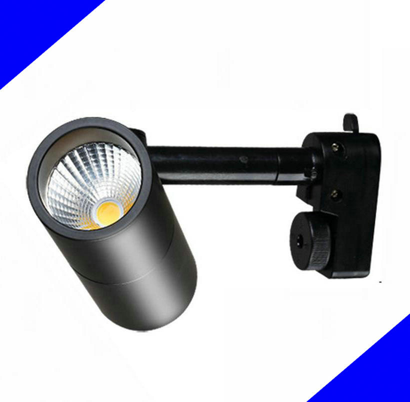 7W 10W 15W COB LED Track Lights Showcase LED Spot light Track Lighing AC85-265V 100LM/W CE ROHS Warranty 3years12Pcs / lot