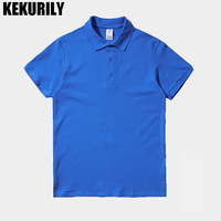 KEKURILY Brand Soild Color T Shirt Men Turn Down Collar Short Sleeve T Shirt Smart Casual