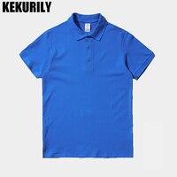 KEKURILY Brand Soild Color T Shirt Men Turn Down Collar Short Sleeve T Shirt Smart Casual