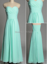 2014 Real Sample Picture New Mint Green Long Chiffon Cheap Bridesmaid Dresses Brides Maid Dresses Women Gown Free Shipping BD175