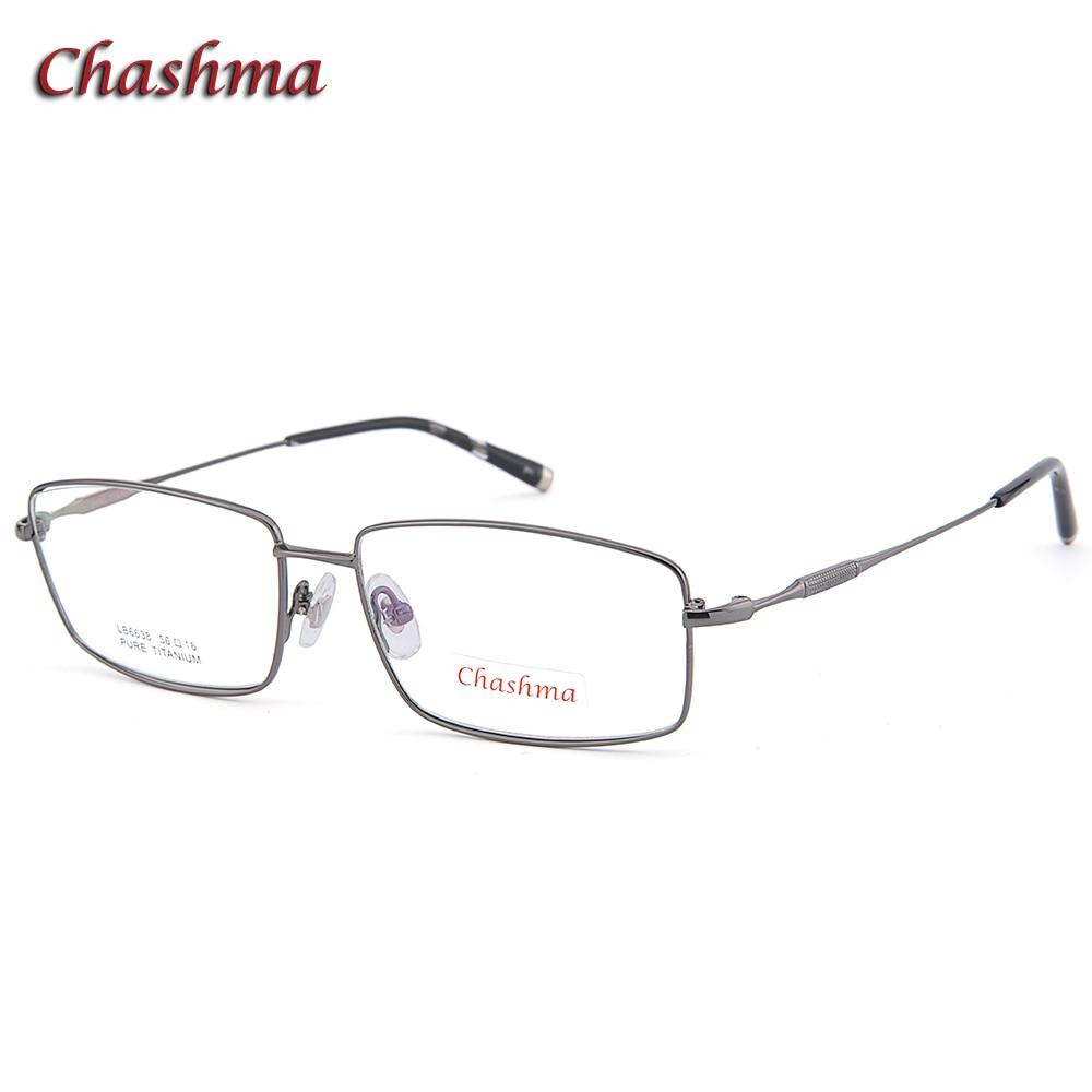 Chashma marque haut de marque qualité titane pur lunettes Ultra léger cadres optique lunettes pour hommes