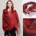 100% Silk Scarf 8 Colors Pure Silk Scarf Female High Quality Fashion Long Silk Scarves Wraps Shawl Travel Accessory