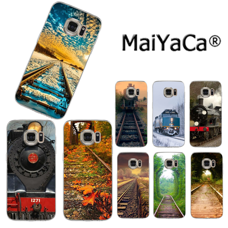 MaiYaCa Fashionable railway train Newest Fashion Luxury phone case for Samsung S3 S4 S5 S6 S6edge S6plus S7 S7edge S8 S8plus