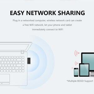 Image 4 - Nowy Mini 802.11n/g/b Wifi 2.4 GHz ~ 2.4835GHz Adapter sieci bezprzewodowej 150 mb/s klucz USB do laptopa PC Windows 7/10/xp/ Vista
