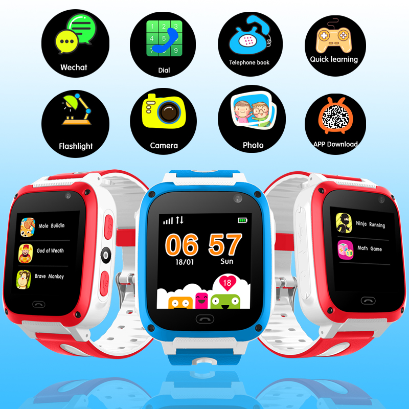 2019 New Children's Smart Watch Connection Mobile Phone APP LBS Positioning Tracker SOS Emergency Phone Security Smart Watch