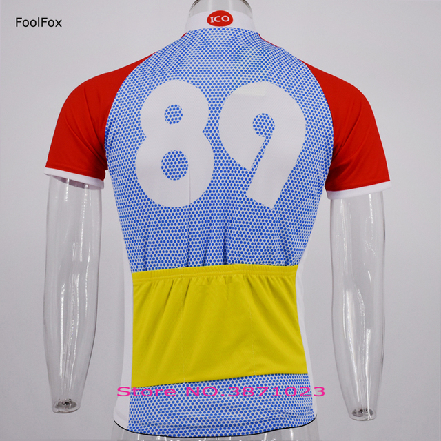 bbc2d1041 2018 new 89 retro Cycling jersey Men s summer Anti-sweat short sleeve bike  jersey FoolFox